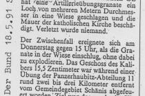 Der Berner Bund war langsamer aber korrekt in der Beobachtung