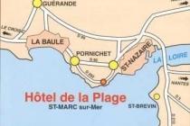 Plan Hôtel de la Plage