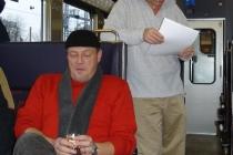 Organisator Urs im Zug