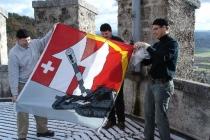 zuviel Wind für unsere zarte Fahne