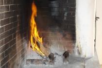 zurück am warmen Kamin